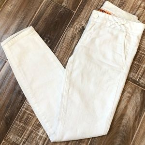 Tory Burch size 26 white skinny pants jeans